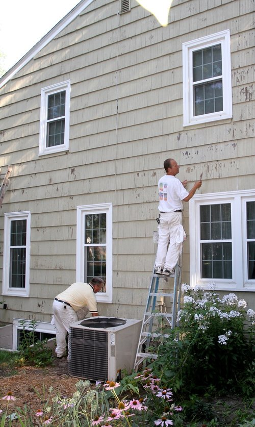 Painting an exterior in the summer