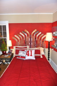 Hockey headboard in Bachman's Ideas Holiday