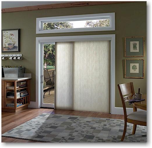 Window treatment for sliding doors