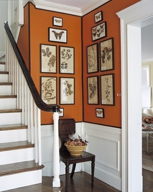 Black and orange Halloween inspired room.
