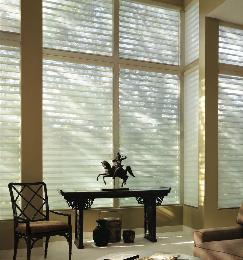 Silhouette window treatment by Hunter Douglas