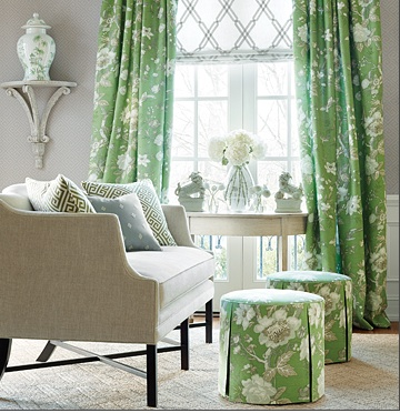 fabric and wallpaper from Thibaut Enchantment