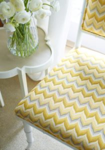 Thibaut yellow and gray fabric
