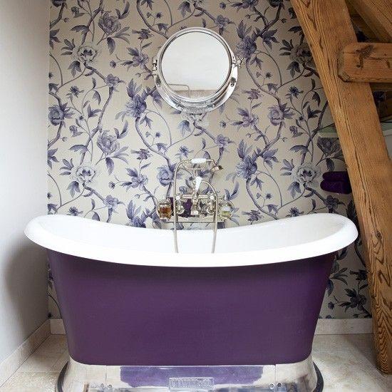 Tub painted purple