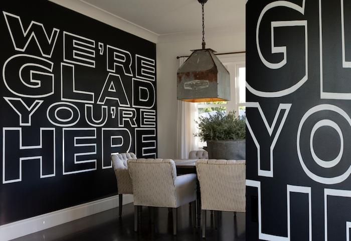 Diane Keaton chalkboard wall