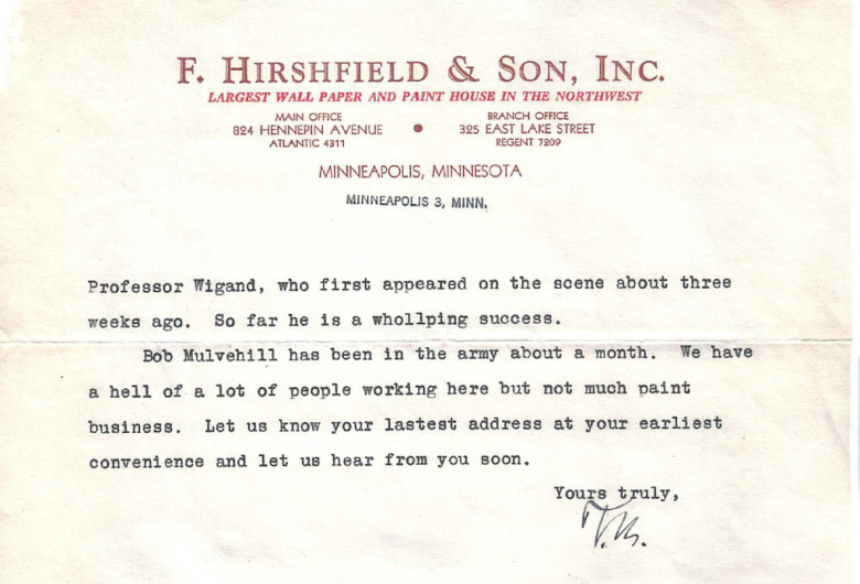 Hirshfield's Christmas Letter