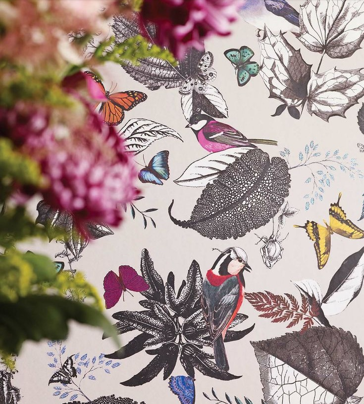 Wallpaper Wednesday Large Prints For Powder Rooms