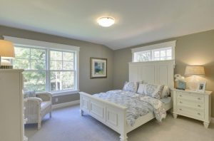 painted bedroom with Langdon Dove