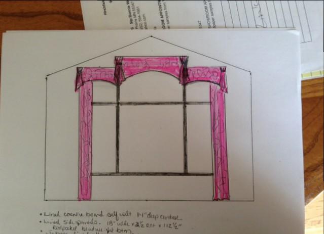 Window treatment drawing