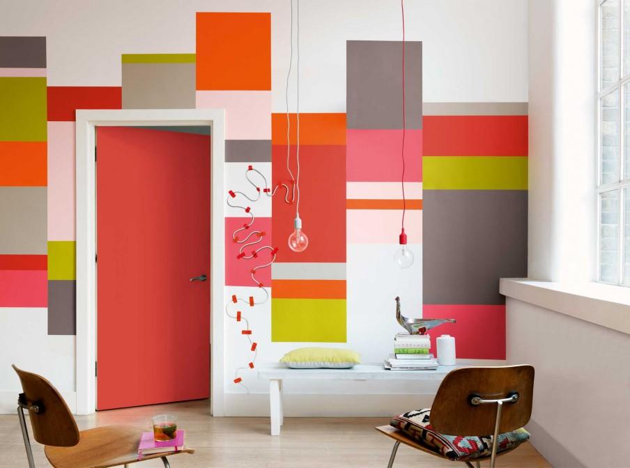Woonkamer Felle Kleuren : Woonkamer felle kleuren roze lampen hirshfields