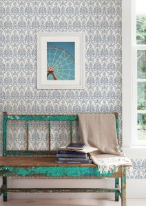 wallpapered wall from Kismet book