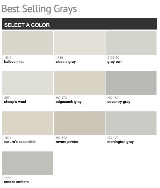 Benjamin Moore Por Gray Paint Colors