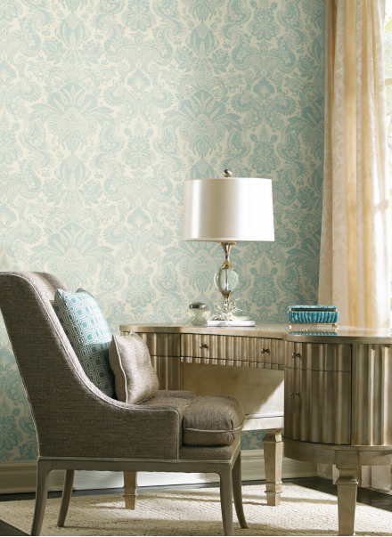 Dinwiddie Damask - YORK Wallcoverings