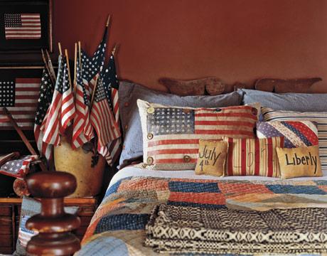 Patriotic Bedroom - Country Living & Independence Day Inspiration: Patriotic Bedroom Ideas | Hirshfield\u0027s