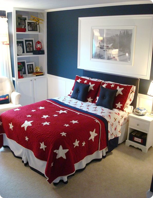 Genial Vintage Flag U2013 Blood And Champagne Patriotic Bedding   Thrifty Decor Chick