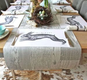 Rabbit Wallpaper Tablerunner