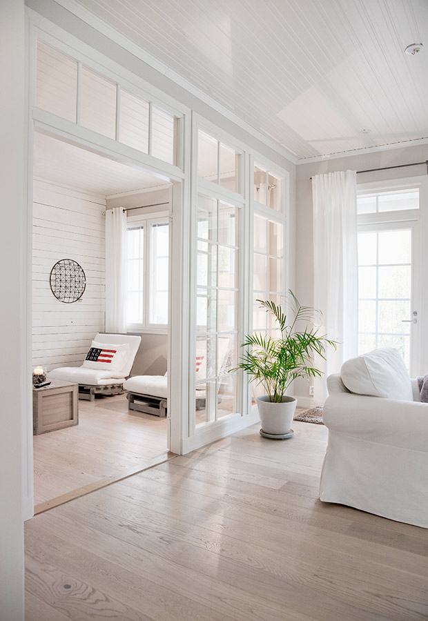 White Finnish interior