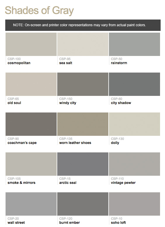 Benjamin Moore Color Stories Shades Of Gray