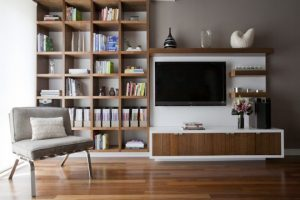 hiding your tv Modern living room decor