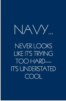 navy blue quotes
