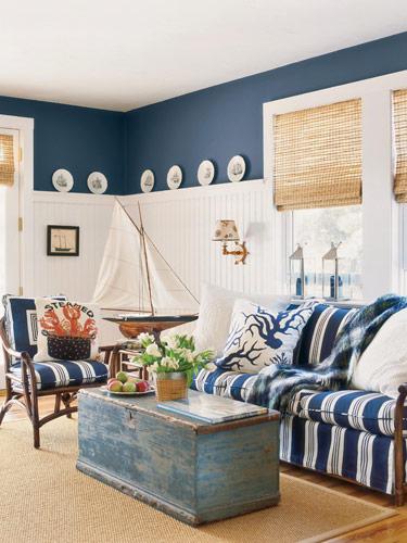 navy blue nautical look