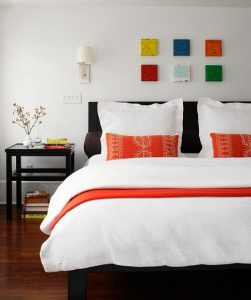 guest room decorating colorful modern