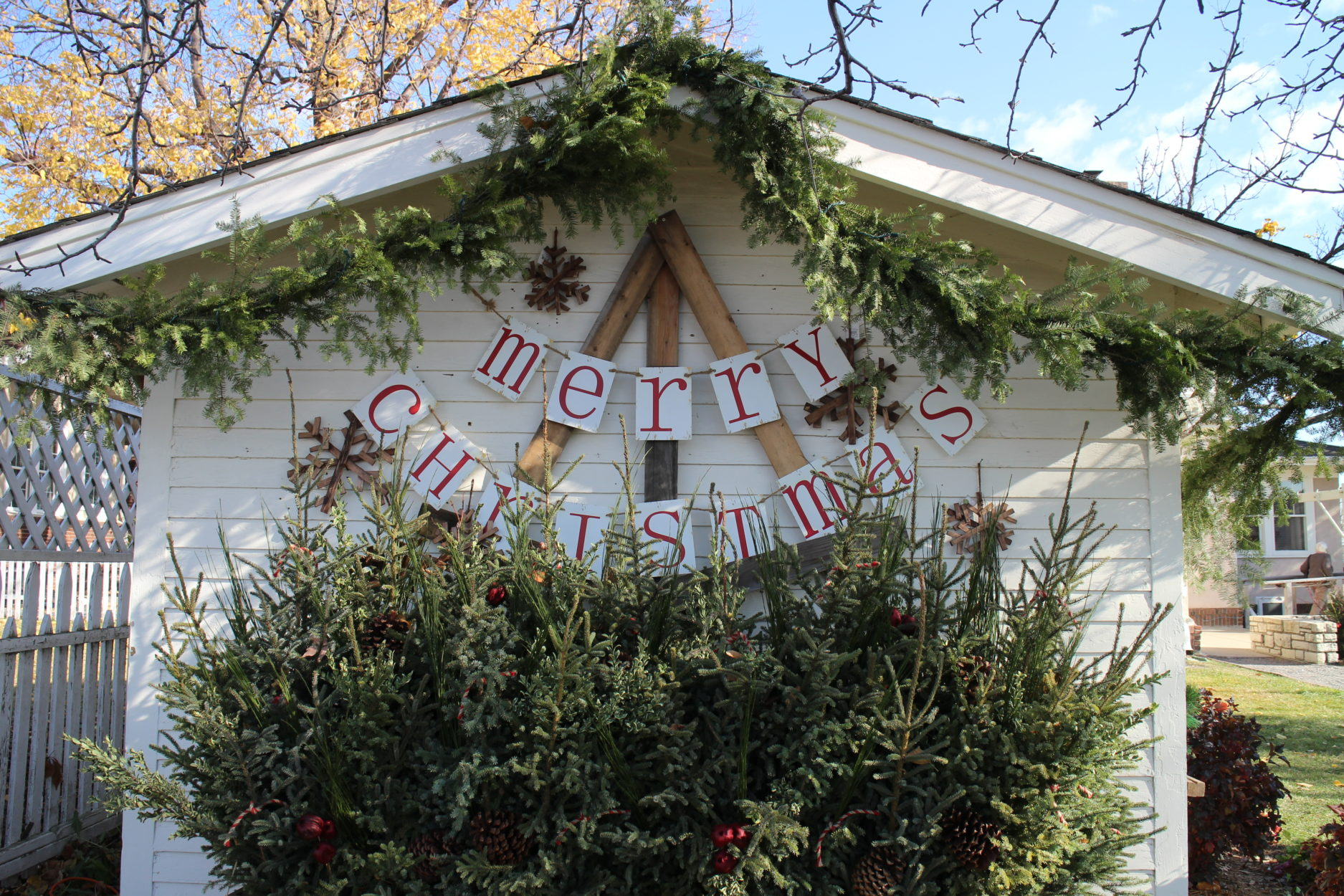 The She Shed decked out for Christmas