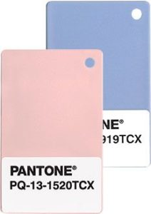 Pink and blue color swatches 2016 pantone colors inspiration