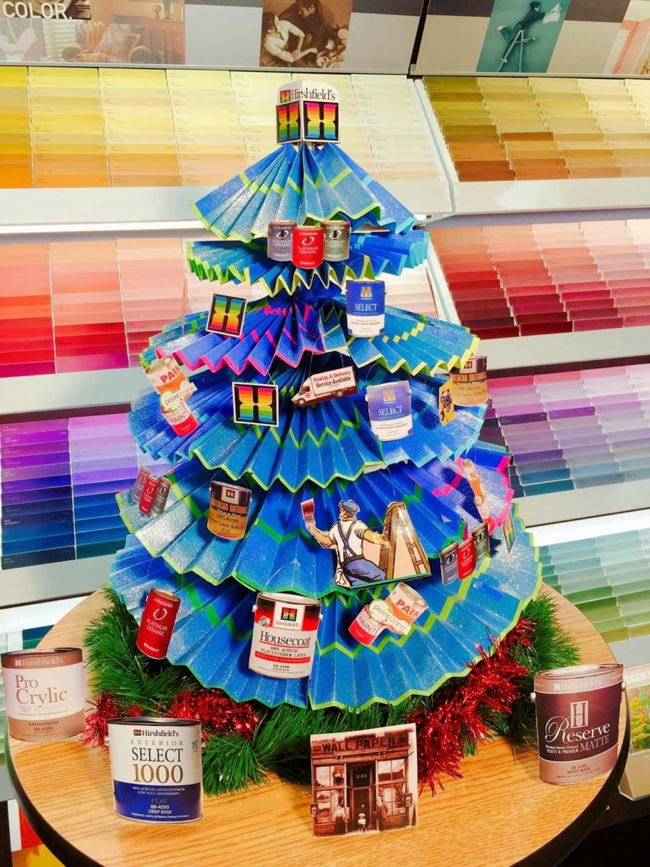 3M Blue Tape Christmas Tree