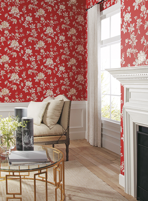 Chinese Peony | WILLIAMSBURG II by York Wallcoverings