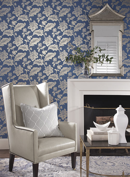Everard Damask | WILLIAMSBURG II by York Wallcoverings