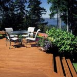 newly stained deck spring time