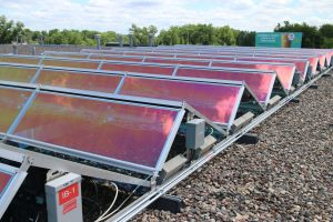 solar panels on Hirshfields
