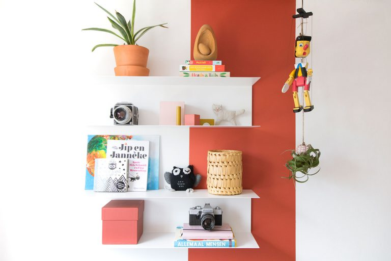 color blocked wall