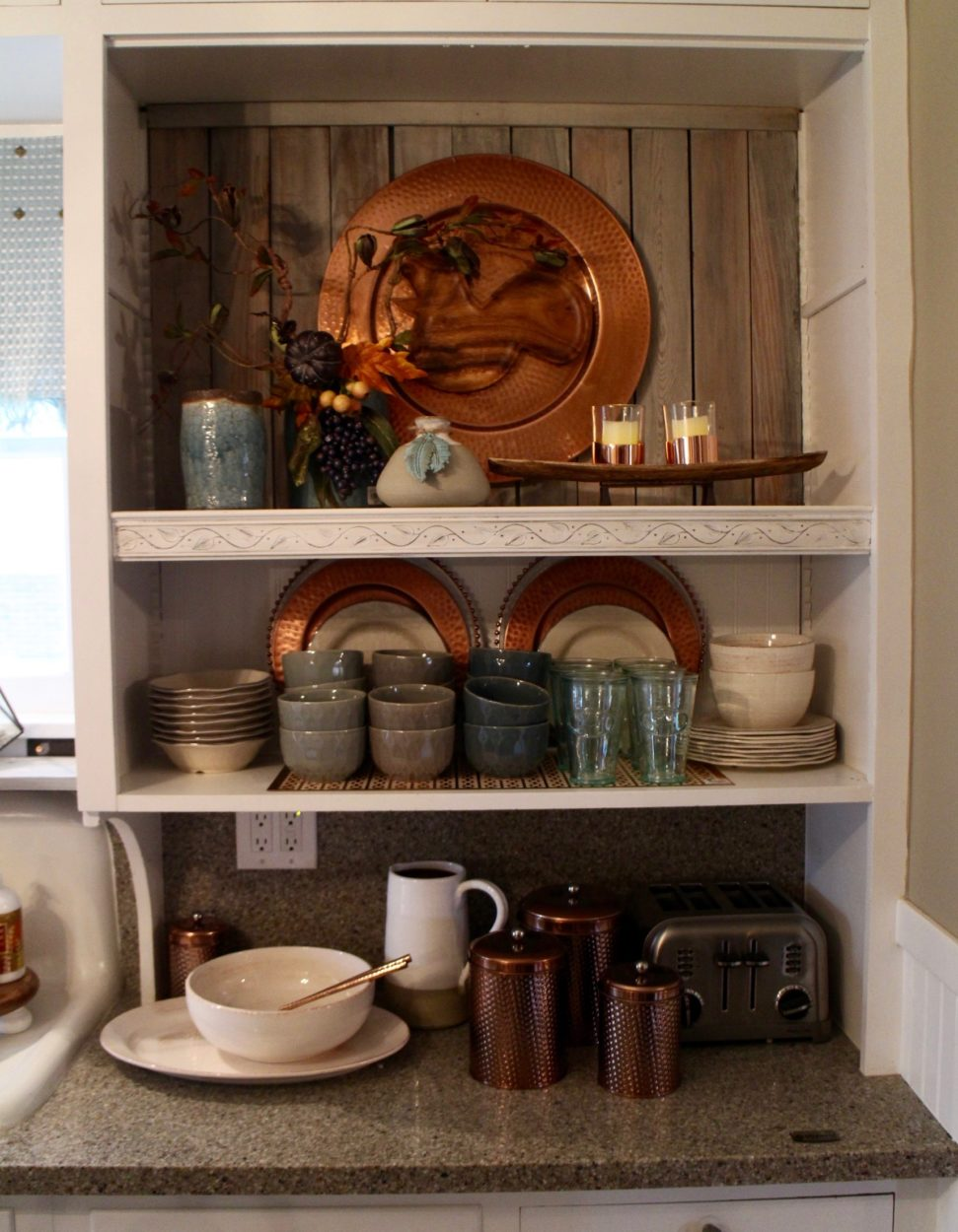 Copper accents in the Bachman's kitchen 2016
