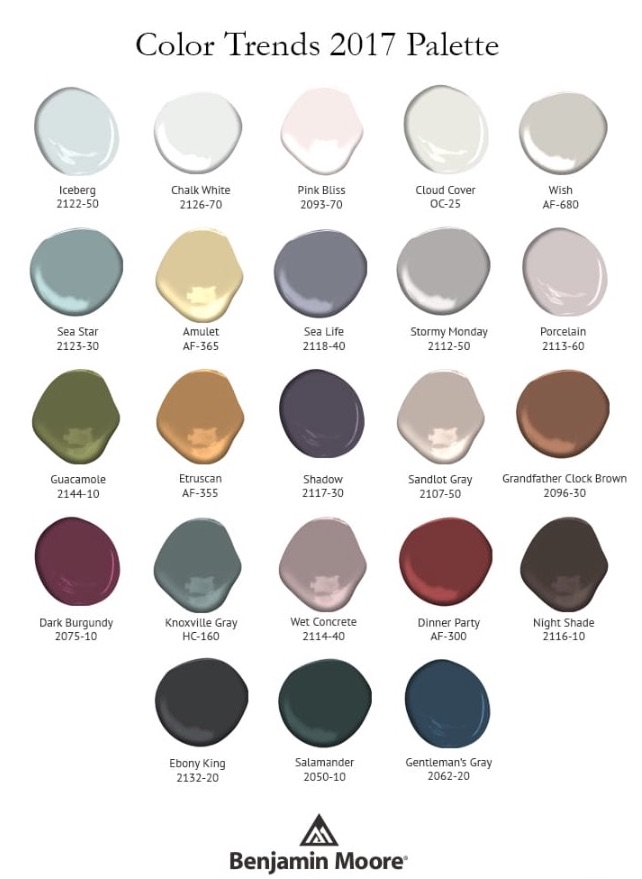 Benjamin Moore color trends 2017 shadow