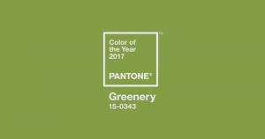 Greenery paint swatch pantone greenery
