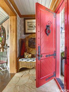front door painted red veranda magazine