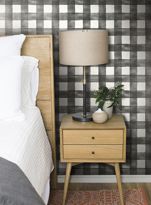 buffalo check wallpaper Magnolia Home