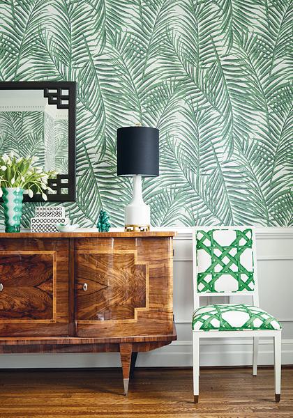 Thibaut Summerhouse wallpaper floral design