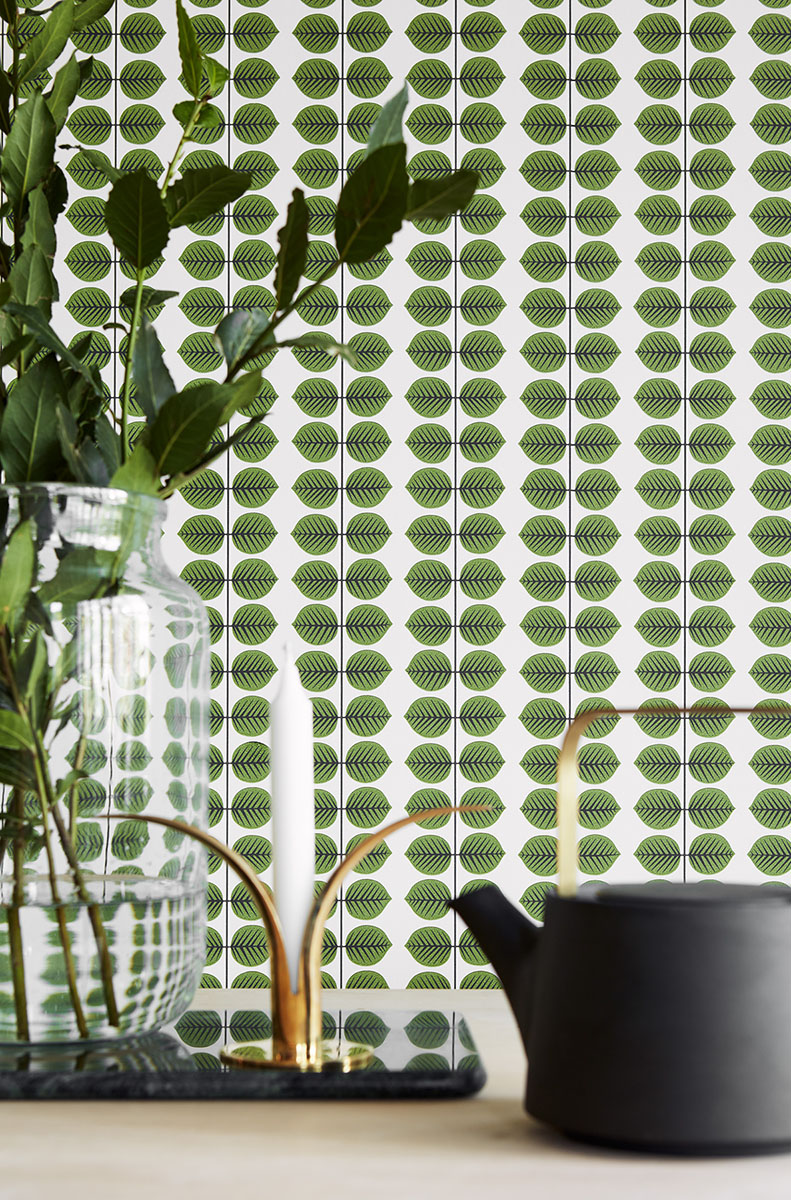 Scandinavian wallcovering bachman house room image decor