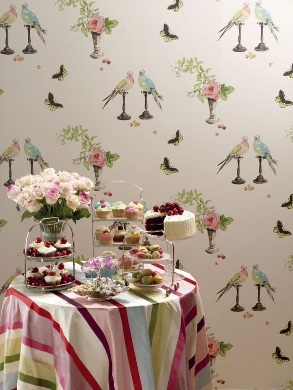 wallpapered room by Nina Campbell