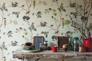 bird wallpaper by Sanderson