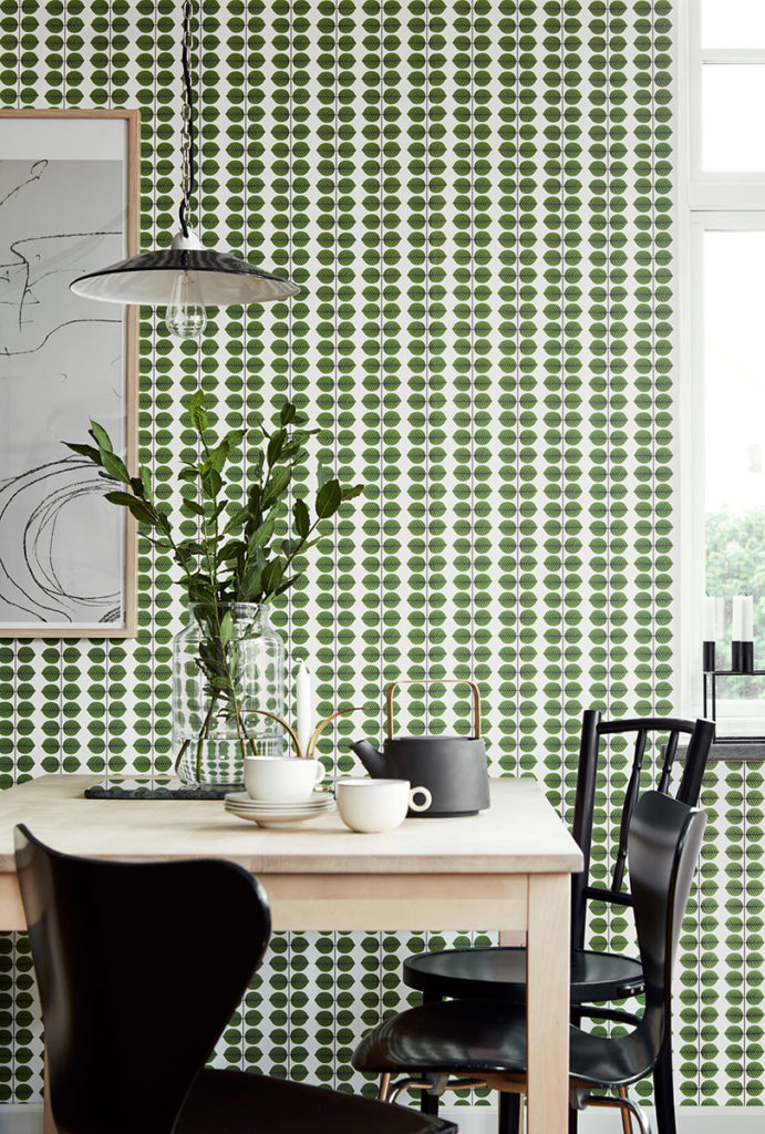 scandinavian wallcovering design