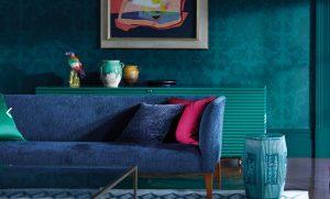 jeweltone wallpaper by Zoffany