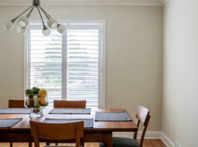 Graber shutters in dining room