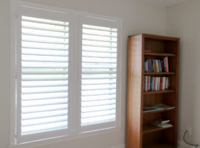 Graber shutters with vanes open