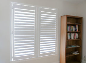 Graber shutters with vanes closed