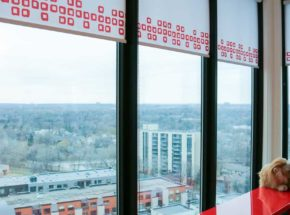 rooms with a view hunter douglas blinds red