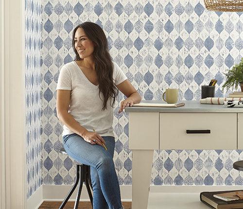 Magnolia Home Wallpaper Woodblock